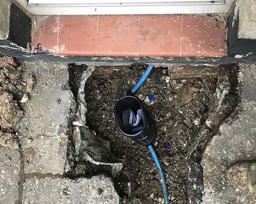 Water mains repair outside house